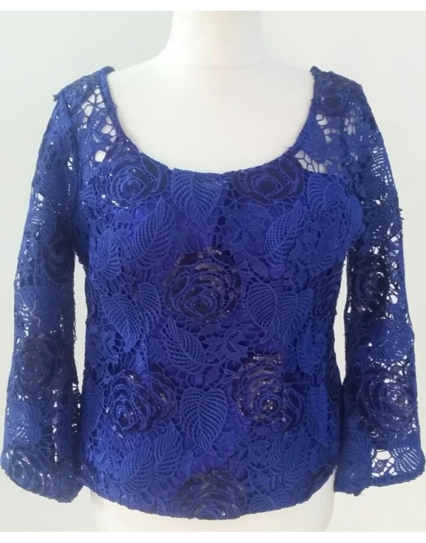 Blue Lace Blouse