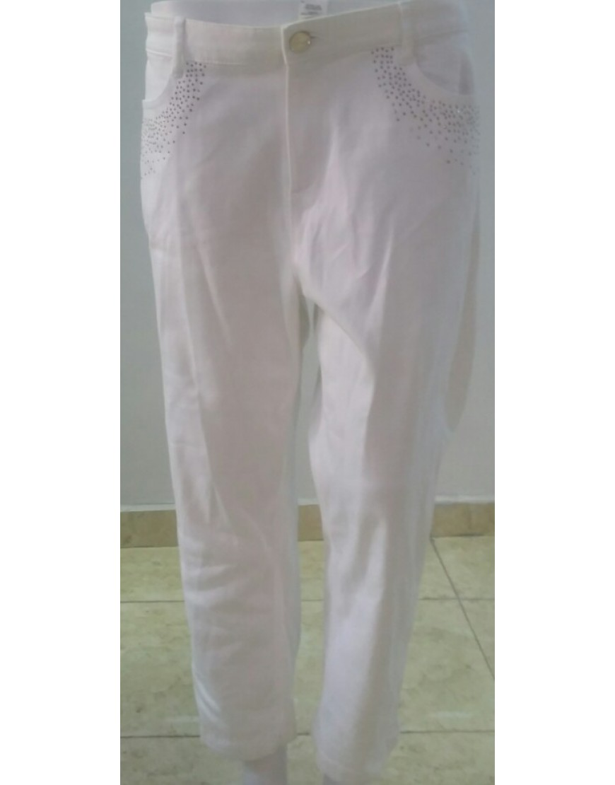 PERUNA WHITE CROP PANTS