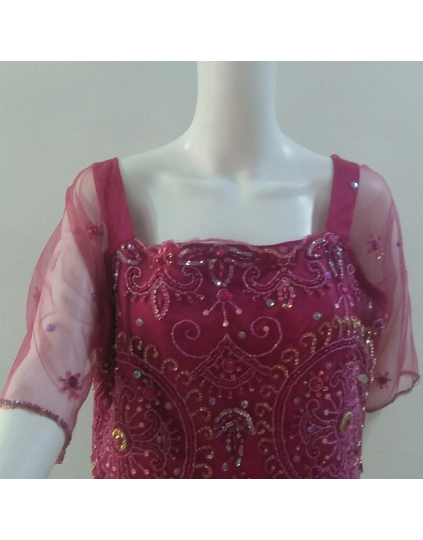 DARK PINK LACE BLOUSE