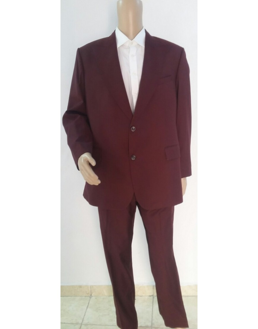 BURGUNDY JACKET KING SUIT