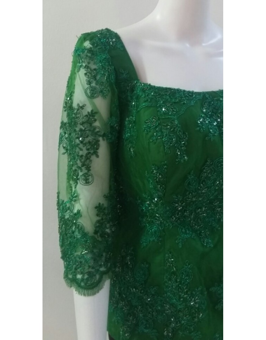 GREEN LACE BLOUSE
